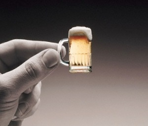 Holding Tiny Little Beer Mug